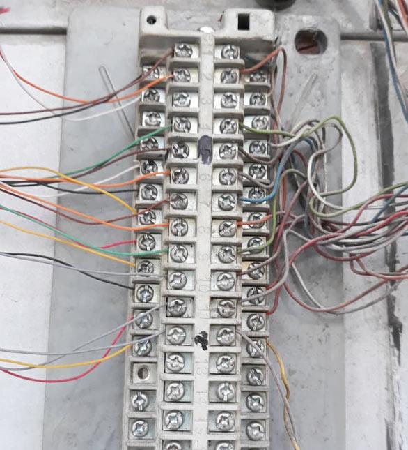جعبه تقسیم تلفن در مقاله روش صحیح سیمکشی تلفن